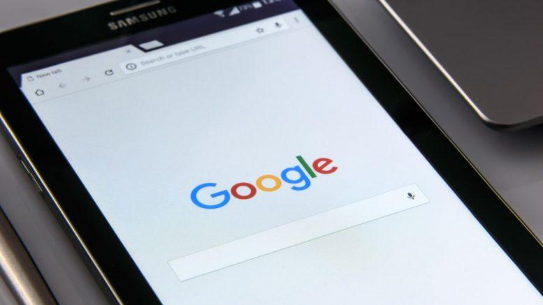 Tablette tactile sur Google